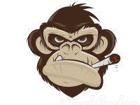 Affe beim Paffen Logo-Design