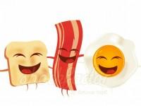 Toast Speck und Ei