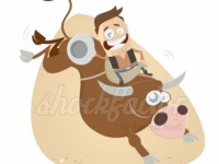 Rodeo Cowboy Cartoon