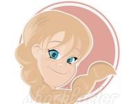 Blondes Cartoon Mädchen
