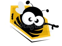 Biene in der Wabe