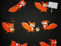 Lustige Eichhörnchen Cliparts zum Download