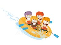 Spaß beim River Rafting