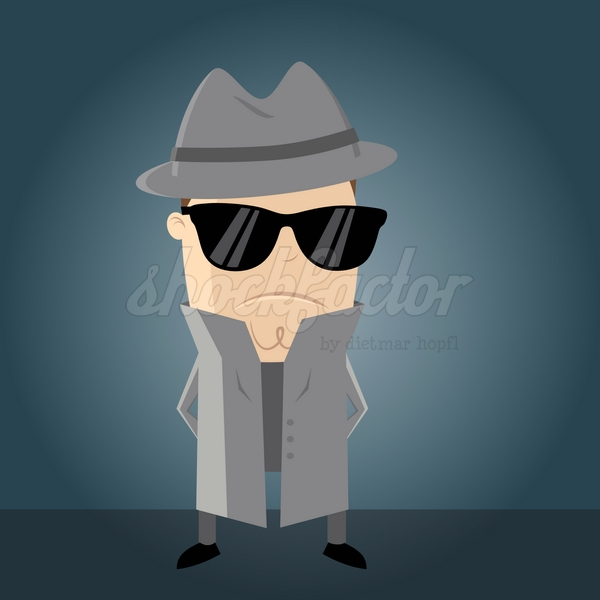 Agent Geheim Cartoon Clipart