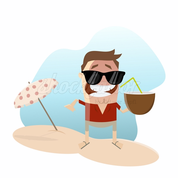 Cocktail Sonnenschirm Cartoon Clipart Illustration