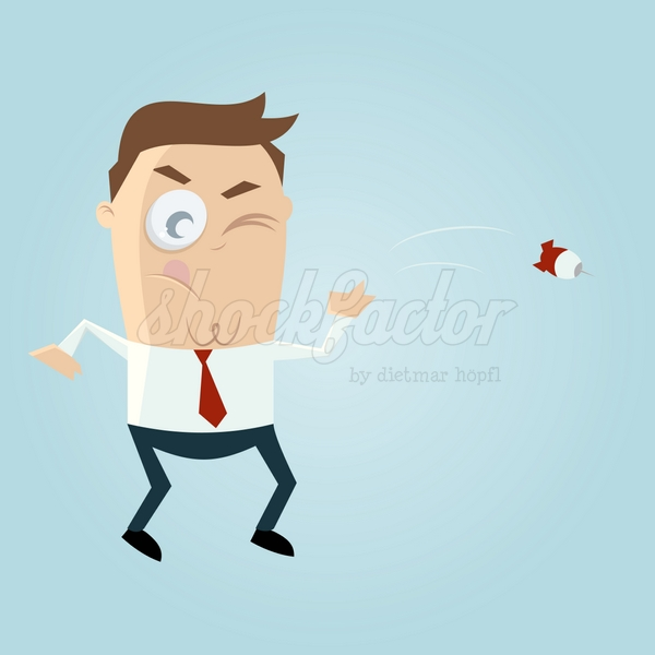 Dart Cartoon Clipart Vektor Illustration