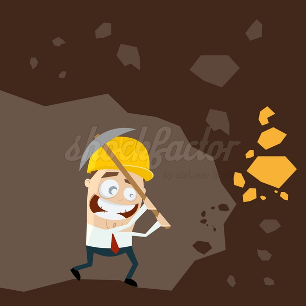 Goldgräber Cartoon Clipart Illustration