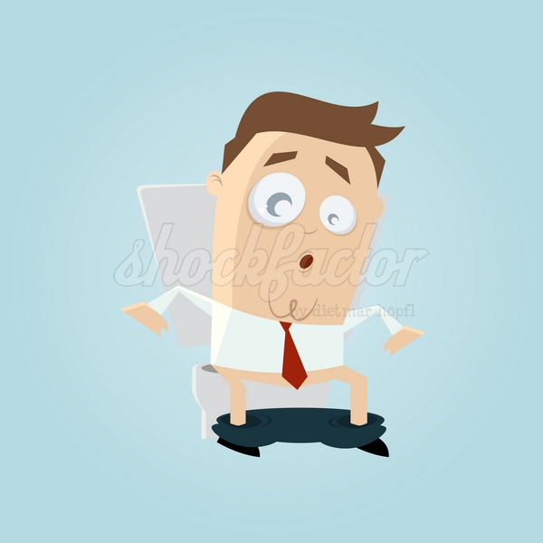 Klo Sitzen Cartoon Clipart Illustration