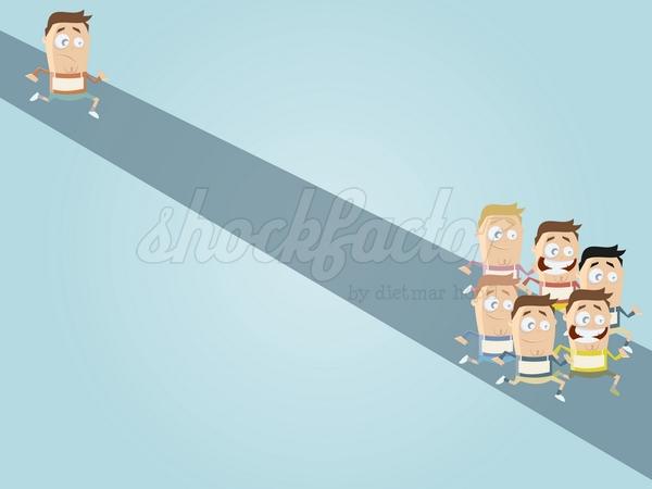 Laufen Langsam Cartoon Clipart