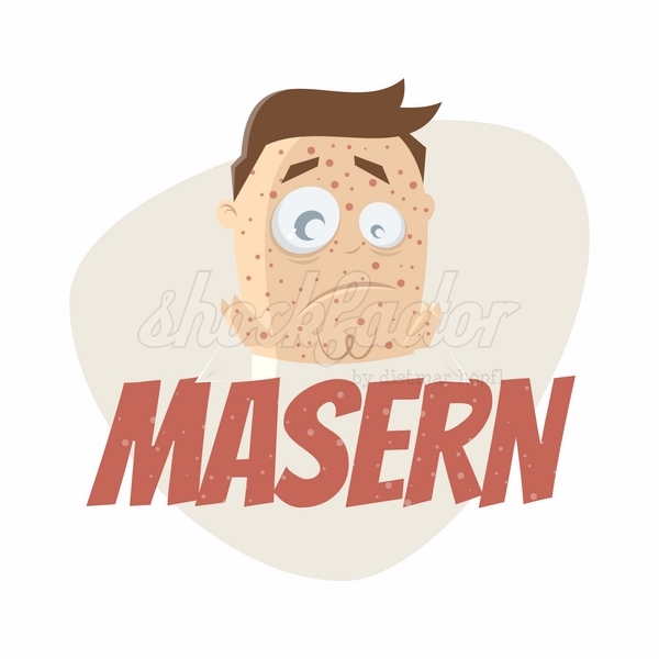 Masern Cartoon Clipart Vektor
