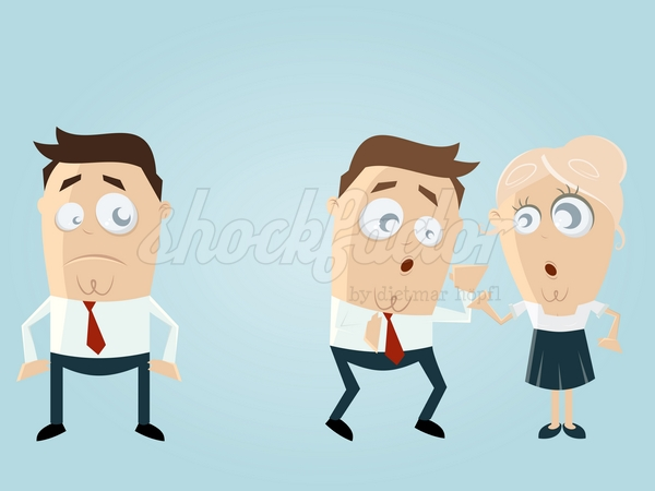 Mobbing Cartoon Clipart