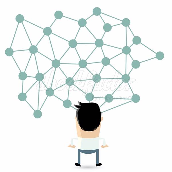 Netzwerk Sozial Cartoon Clipart Vektor