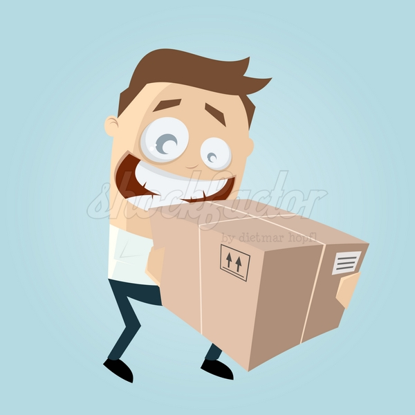 Lieferung Box Cartoon Clipart Illustration