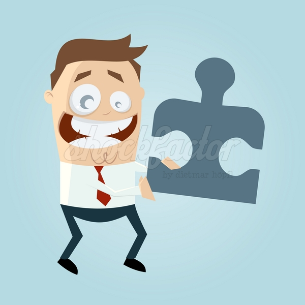 Puzzle Cartoon Clipart Illustration