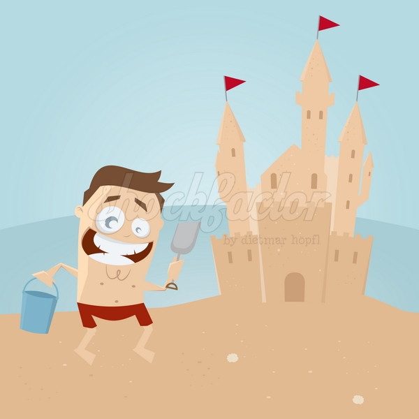 Sandburg Cartoon Clipart Illustration