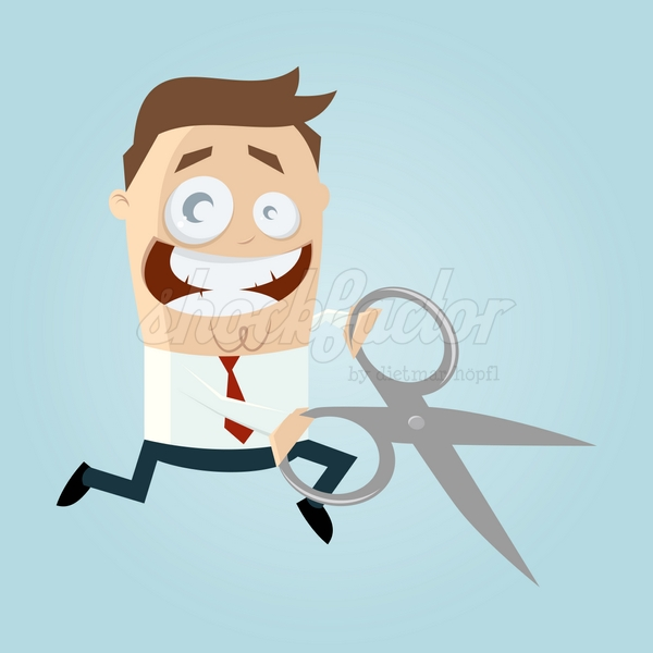 Schere Schneiden Cartoon Clipart