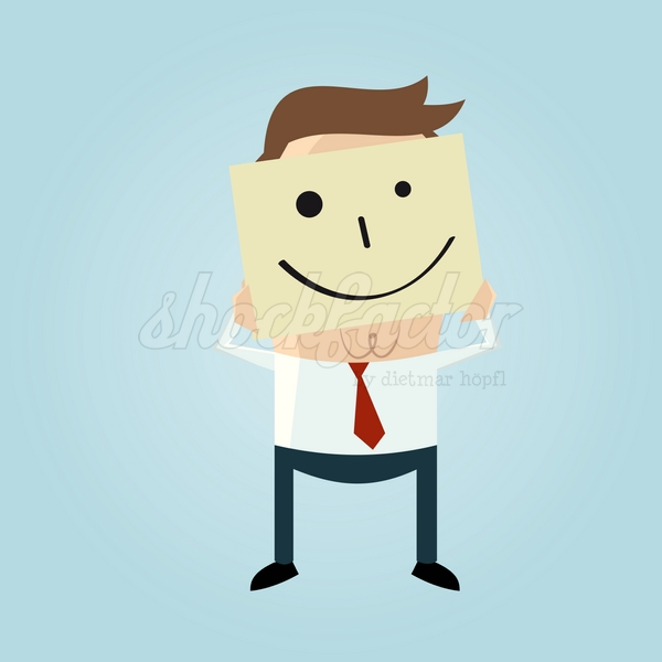 Smiley Notiz Cartoon Clipart Vektor