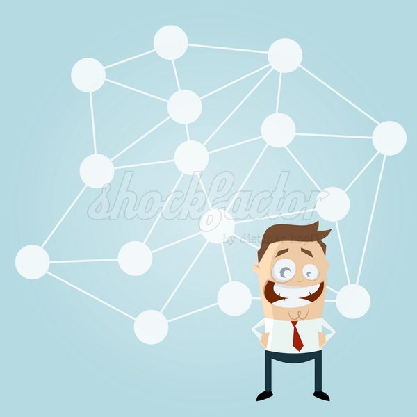 Soziales Netzwerk Cartoon Clipart Vektor Illustration