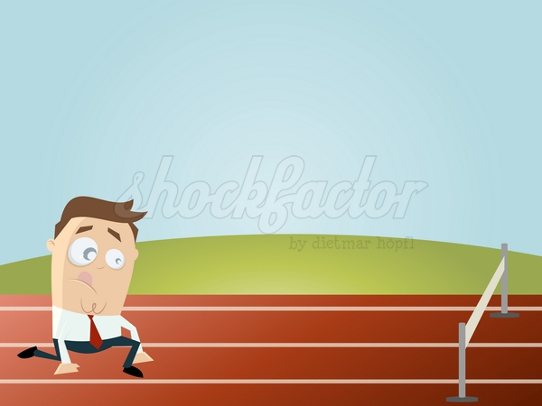 Start Karriere Cartoon Clipart Vektor