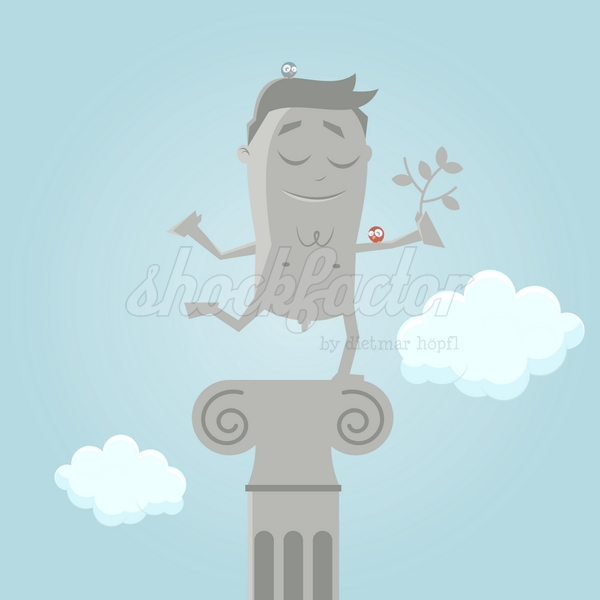 Statue Cartoon Clipart Vektor Illustration