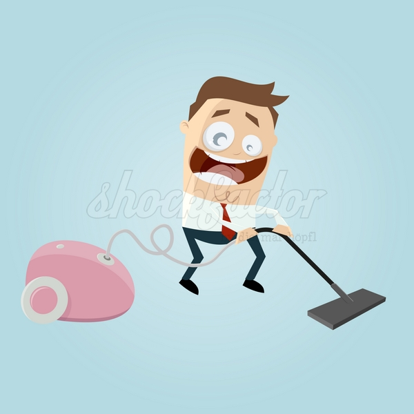 Staubsauger Cartoon Clipart Illustration