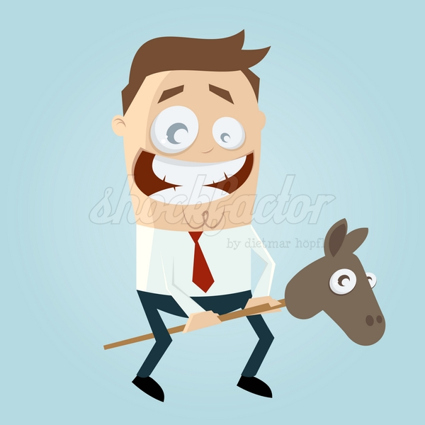 Steckenpferd Mann Cartoon Clipart Vektor