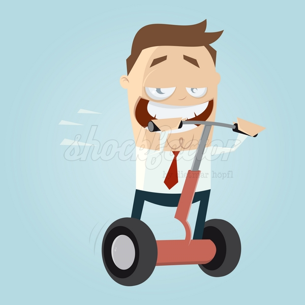 Stehroller Cartoon Clipart