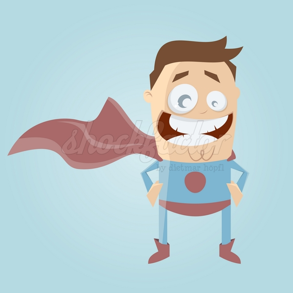 Superheld Cartoon Clipart Vektor
