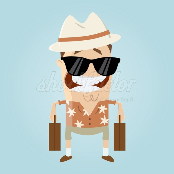Tourist Urlaub Cartoon Clipart Vektor
