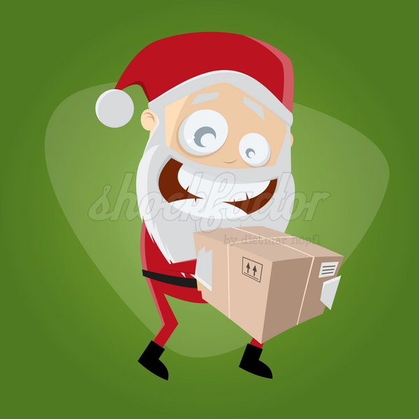 Weihnachtsmann Paket Cartoon Clipart
