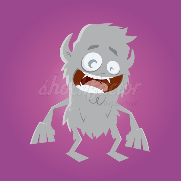 Werwolf Cartoon Clipart Vektor Illustration