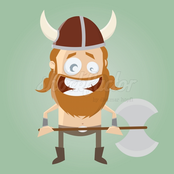 Wikinger Cartoon Clipart Illustration