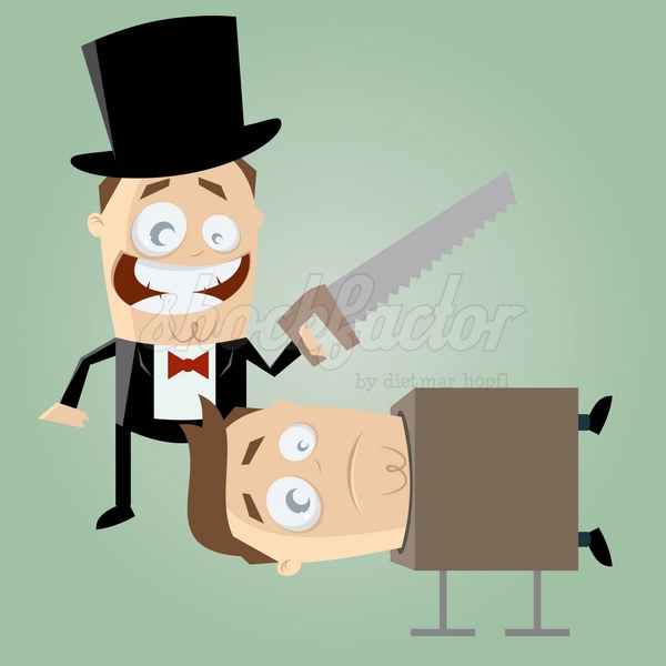 Zauberer Säge Cartoon Clipart