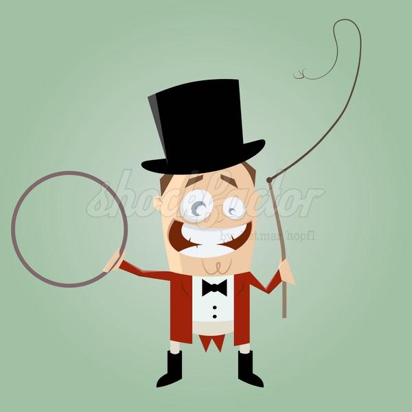 Zirkus Direktor Clipart Comic