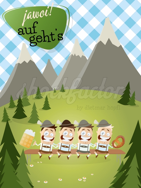 Bayern Bier Bank Comic Clipart