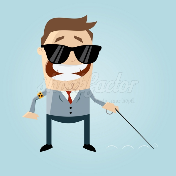 Blind Mann Comic Clipart