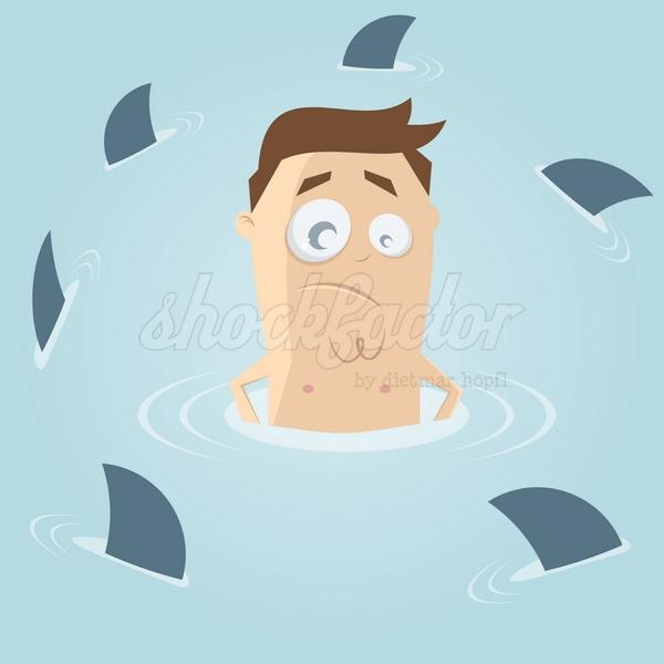Hai Becken Gefahr Comic Clipart