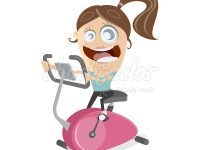 Fahrradtrainer Clipart
