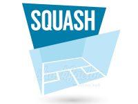 Ein modernes Squash Logo