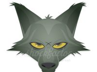 Böser Wolf als Clipart