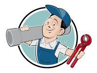Klempner Logo im Retro-Look