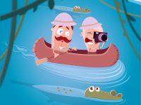 Eine aufregende Fluss Safari
