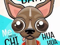 Chihuahua Cartoon Poster