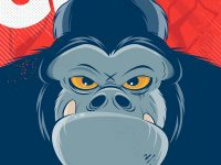 Gorilla Retro Poster