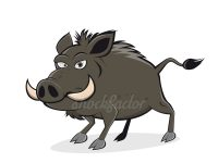 Grantiges Wildschwein Comic