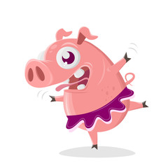 ballet dancer pig