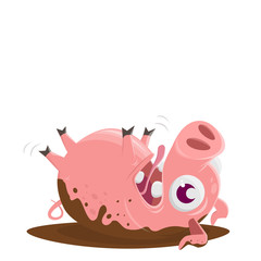 pig rolling in the mud