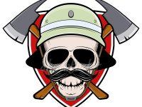 Feuerwehr Logo Totenkopf