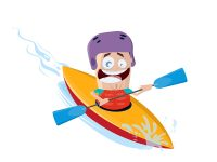 Kayak Cartoon Illustration