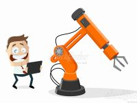 Industrieroboter Cartoon
